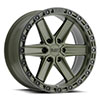 TSW Henderson Alloy Wheels OD Green with Black Lip Edge and Black Bolts