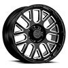"TSW Pismo Alloy Wheels Gloss black w/milled spokes (9.5"")"