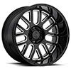 "TSW Pismo Alloy Wheels Gloss black w/milled spokes (12"")"
