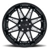 Rush Gloss Black w/ Milled Spokes