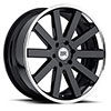 TSW Savannah Alloy Wheels Gloss Black With Chrome Stainless Lip