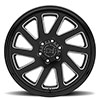 "Thrust Gloss Black w/Milled Spokes (9.5"")"