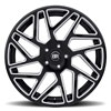 Cyclone Gloss Black with Milled Spokes