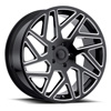 TSW Cyclone Alloy Wheels Gloss Black with Milled Spokes