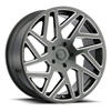 TSW Cyclone Alloy Wheels Gloss Titanium with Milled Spokes
